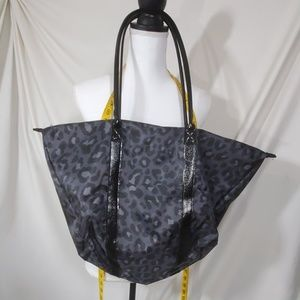 Leopard print black bag